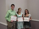 2008 St. George Scholarship awardees Tony Haddad, Sarah Schneider and Abby David